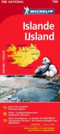 Wegenkaart IJsland | Michelin 750 | 1:500.000 | ISBN 9782067208711