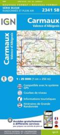 Topo-, wandelkaart Carmaux - Valence-d'Albigeois |  IGN 2341SB | ISBN 9782758533306