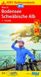 Fietskaart Bodensee / Schwäbisch Alb | ADFC nr.25 | ISBN 9783969900048