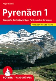 Wandelgids Pyrenäen 1 | Rother Verlag | Spanische Zentralpyrenäen: Panticosa bis Benasque | ISBN 9783763340033