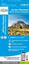 Wandelkaart Ax-les-Thermes, Ussat, Les Cabannes, Ax-Bonascre | Pyreneeën | IGN 2148ET - IGN 2148 ET