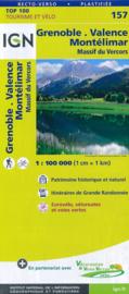 Wegenkaart - fietskaart Grenoble - Montelimar | Rhône-Alpes / Drôme | IGN 157 | ISBN 9782758540861