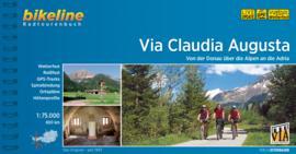 Fietsgids Via Claudia Augusta - 800 km | Bikeline | van Donauwörth naar Venetië | ISBN 9783850008051