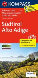 Fietskaart Zuid Tirol - 4-delige set | Kompass 3401 | 1:70.000 | ISBN 9783850261456