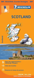 Wegenkaart Schotland | Michelin 501 | 1:400.000 | ISBN 9782067183193