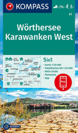 Wandelkaart Wörthersee -Karawanken West | Kompass 61 | 1:50.000 | ISBN 9783990447284