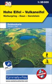 Wandelkaart Hohe Eifel - Vulkaneifel   Kümmerly & Frey 20   1:35.000   ISBN 9783259025635