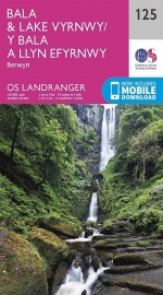 Wandelkaart Ordnance Survey | Bala & Lake Vyrnwy, Berwyn 125 | ISBN 9780319262238