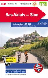 Fietskaart Sion Bas-Valais | Kümmerly+Frey nr. 20 | 1:60.000 | ISBN 9783259024201