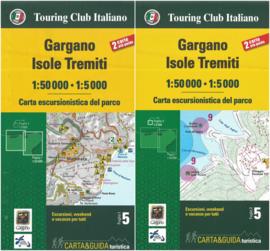 Wandelkaart Gargano - Isole Tremiti | 1:50.000 | TCI 5 | ISBN 9788836573301