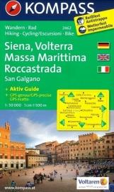 Wandelkaart Siena, Volterra Massa Marittima Roccastrada | Kompass 2462 | ISBN 9783850266055