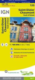 Wegenkaart - Fietskaart St. Dizier - Chaumont | IGN 120 | ISBN 9782758540793