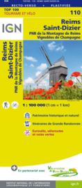Wegenkaart - Fietskaart Reims / Saint Dizier | IGN 110 | ISBN 9782758543602