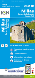 Wandelkaart Millau, Gorges de la Dourbie, Causse Noir |  IGN 2641OT - IGN 2641 OT | ISBN 9782758545439