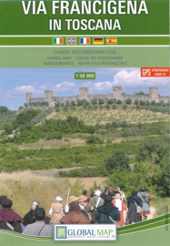 Wandelkaart Via Francigena | Global Map  | 1:50.000 | ISBN 9788833033020
