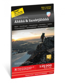 Wandelkaart  Áhkká & Sarektjåkkå | Calazo | 1:25.000 | ISBN 9789189079175