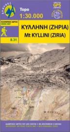 Wandelkaart  Mt. Kyllini (Ziria) | Anavasi 8.31 | 1:25.000 | ISBN 9789609412490