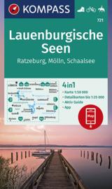Wandelkaart Lauenburgische Seen | Kompass 721 | ISBN 9783854917021