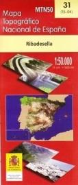 Wandelkaart - Topografische kaart Ribadesella | 1:50.000 | CNIG 31 | ISBN 9788441648555