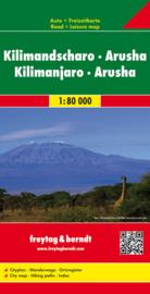 Wandelkaart Kilimanjaro & Arusha | Freytag & Berndt | ISBN 9783707909647