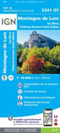 Wandelkaart Montagne de Lure, Les Mees, Chateau Arnoux Alpen | Vaucluse - Drome | IGN 3341OT - IGN 3341 OT