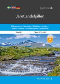Wandelkaart Jämtlandsfjällen | Norsteds 11 | 1:75.000 | ISBN 9789113105086
