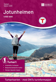 Wandelkaart Jotunheimen 2215   Nordeca   1:100.000   ISBN 7046660022153