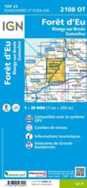 Wandelkaart Foret d`Eu, Blangy-sur-Bresle, Gamaches | IGN 2108 OT – IGN 2108OT