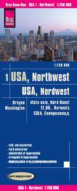 Wegenkaart USA 1, Noordwest Washington en Oregon | Reise Know How | 1:750.000 | ISBN 9783831774050