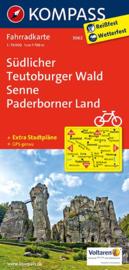 Fietskaart Südlicher Teutoburger Wald - Senne - Paderborner Land | 1:70.000 | Kompass 3062 | 1:70.000 | ISBN 9783850265768