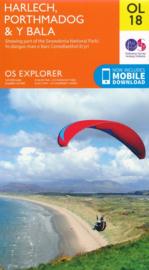 Wandelkaart Snowdonia - Harlech - Porthmadog - Bala - Y Bala | Ordnance Survey Explorer maps 18 | 1:25.000 | ISBN 9780319263587