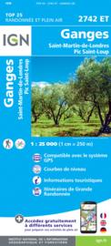 Wandelkaart St.-Martin-de-Londres, Pic St.-Loup, Les Matelles, Grotte des Demoiselles | Cevennen - Languedoc | IGN 2742ET - IGN 2742 ET | ISBN 9782758543121