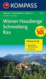 Wandelkaart Wiener Hausberge-Rax-Schneeberg | Kompass 228 | ISBN 9783850262101