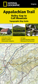 Wandelkaart Appalachian Trail –  Bailey Gap to Calf Mountain | 1:63360 | National Geographic 1504 | ISBN 9781597756419