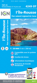 Wandelkaart L`Ile Rousse, Belgodère, Olmi-Cappella, PNR de la Corse | Corsica - IGN 4249OT - IGN 4249 OT