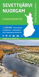 Wandelkaart  Sevettijarvi-Nuorgam | Karttakeskus - Genimap | 1:100.000 | ISBN 9789522662774