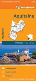 Wegenkaart - Landkaart Aquitaine 2021 | Michelin 17524 | 1:200.000 | ISBN 9782067249776
