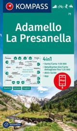 Wandelkaart Adamello, La Presanella | Kompass 71 | 1:50.000 | ISBN 9783991211129