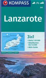 Wandelkaart Lanzarote | Kompass 241 | 1:50.000 | ISBN 9783990445693