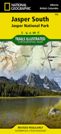 Wandelkaart Jasper South National Park | National Geographic 900 | ISBN 9781566956604
