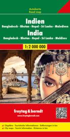 Wegenkaart India - Nepal - Bangladesh | Freytag & Berndt | 1:2 miljoen | ISBN 9783707913897