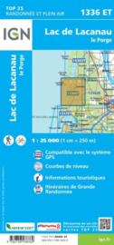 Wandelkaart Lac de Lacanau & Le Porge | Franse Atlantische Kust | IGN 1336ET - IGN 1336 ET  | ISBN 9782758538769