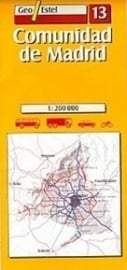 Wegenkaart-Fietskaart Madrid & Omgeving No. 13 | Geo Estel | 1:250.000 | 9788496295001