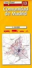 Wegenkaart-Fietskaart Madrid & Omgeving No. 13 | GeoEstel | 1:250.000 | 9788496295001