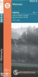 Topografische kaart Belgie NGI 50 / 5-6  Malmédy - Waimes - Ligneuville | 1:25.000 - ISBN 9789462352322