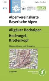 Wandelkaart Allgäuer Hochalpen, Hochvogel, Krottenkopf | DAV BY4 | 1:25.000 | ISBN 9783937530734