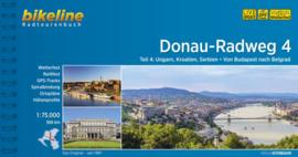 Fietsgids Donau Radweg 4 | Bikeline | Van Boedapest naar Belgrado | ISBN 9783850004244