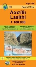 Wegenkaart 92 Lasithi - Kreta | Anavasi Maps | ISBN 9789608195899