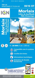 Wandelkaart 0616OT - 0616 OT Morlaix - Vallée Queffleuth - PNR Armorique | Bretagne | ISBN 9782758545149