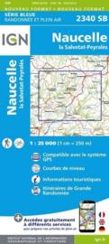Topo-, wandelkaart Naucelle la Salvetat - Peyrales |  IGN 2340SB | ISBN 9782758533290